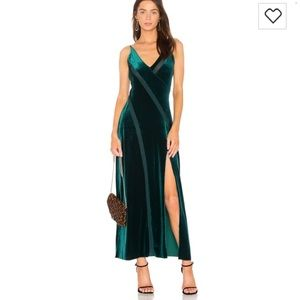 Free people velour dress with mesh detail